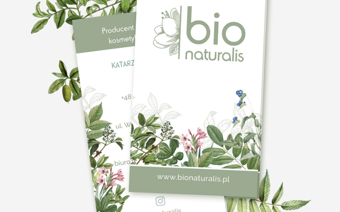 Projekt wizytówki firmowej dla Bio Naturalis