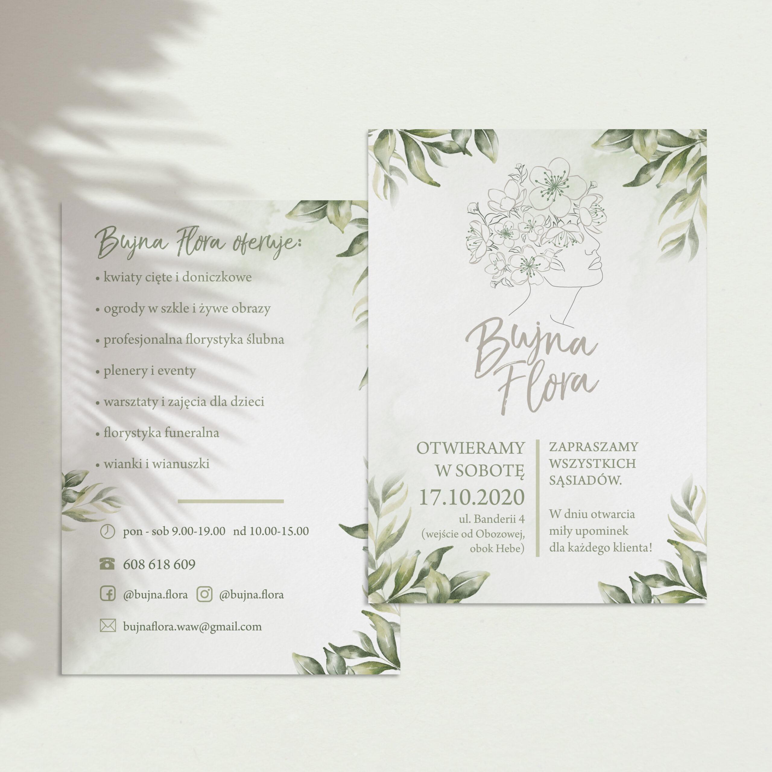 Projekt ulotki dla Bujna Flora