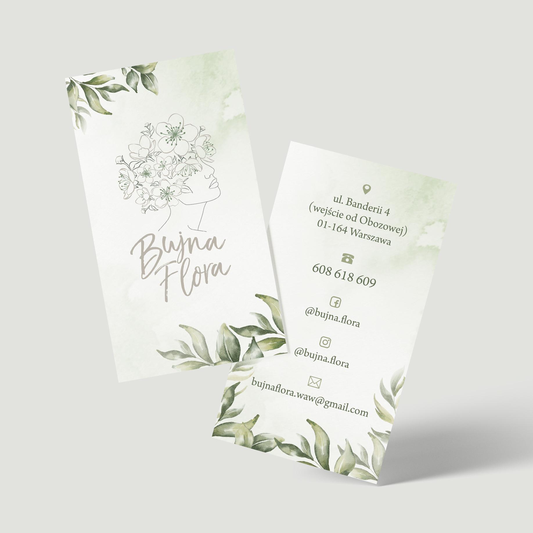 Projekt wizytówki dla Bujna Flora