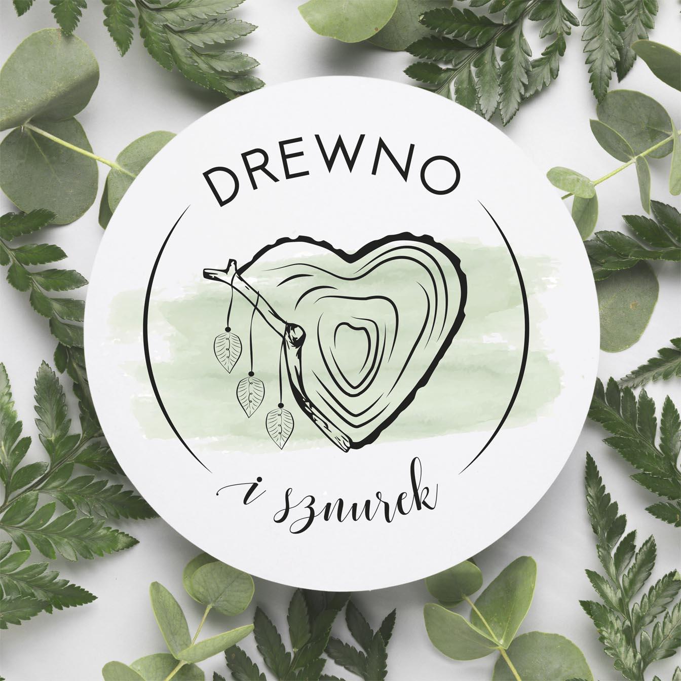 Projekt logo dla Drewno isznurek