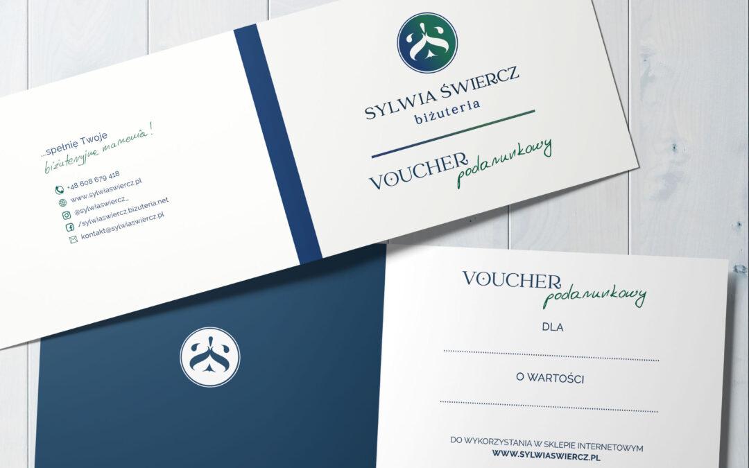 Projekt logo i voucherów dla Sylwii Świercz